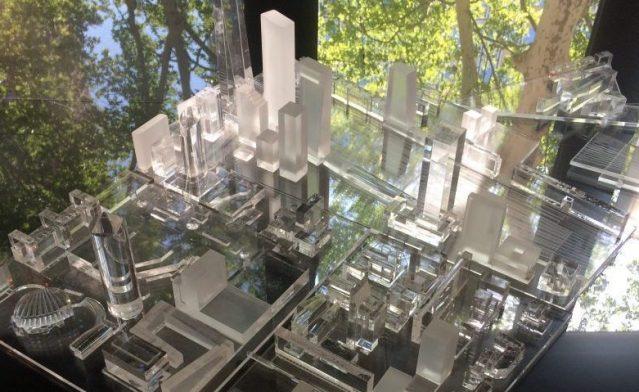 maquette projet urbain Lyon PartDieu